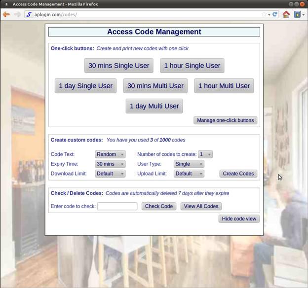 15-access-code-button